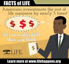 Facts of Life Life Insurance Cost, Affordable Life Insurance, Life Insurance Agent, Life Insurance Quotes, Insurance Business, Mortgage Protection Insurance, American Life, Life Happens, Life Organization