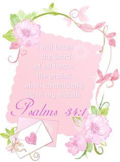 Psalm 34:1 KJV