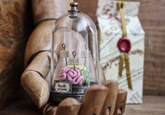Sculpture in a Bell Jar Brain Phrenology Darkly Romantic Anatomy Pastel Colors | shopswell