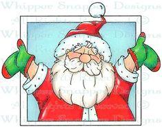 Joyful Santa - Christmas Images - Christmas - Rubber Stamps