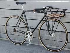 Black Porteur singlespeed | Flickr - Photo Sharing! - Slightly different configuration.