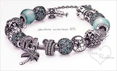 Pandora Summer 2015 tropical bracelet styling!