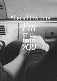 I am, love.