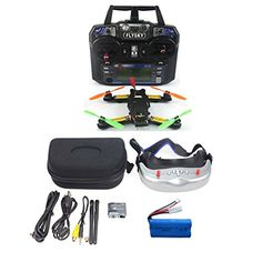 BGNing FPV 24G 6CH RC Mini Racing Quadcopter Drone Tarot 130 RTF Full Set TL130H1 CC3D 520TVL HD Camera 58G 32CH Goggle No Battery Charger ** Details can be found by clicking on the image.Note:It is affiliate link to Amazon.