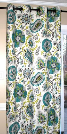 Linen Ladbroke Peacock Curtain Panels by SimplyStagedHome on Etsy, $230.00