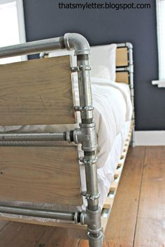 Industrial boys DIY bed with plans