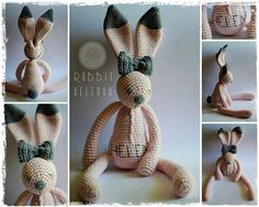 Crochet RABBIT with name :)