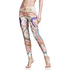 14146916d173de Womens Printed Yoga Pants Workout Leggings Spanx Gym Fitness Activewear  Pants ** See this great product.