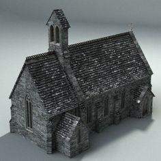www.turbosquid.com - St Mary's Bagthorpe Church, Norfolk, UK