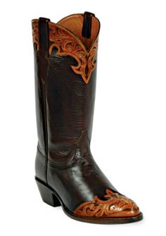 Hand-Tooled Leather Boots Style HT-85 Custom-Made by Black Jack Boots