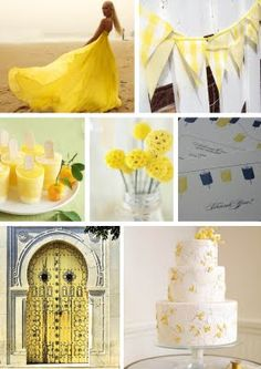 Yellow inspiration board