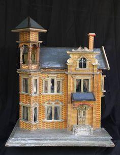 Gottschalk house, from Sue Killinger through Lapada Dolls House Shop, Toy House, House 2, Antique Dollhouse, Dollhouse Miniatures, Miniature Furniture, Dollhouse Furniture, Fairy Houses, Doll Houses