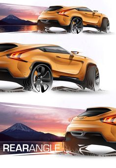 Nissan Vulkano Concept by Adonis Alcici, via Behance