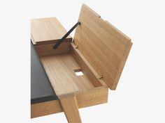 BECKETT BROWN Wood Large brown leather and oak desk - HabitatUK