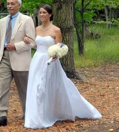 Custom Made Wedding Gown Lucinda JCrew Inspired Strapless Sweetheart Seersucker Pleated Skirt Train Bustle Sash Misses Plus Size Made in USA