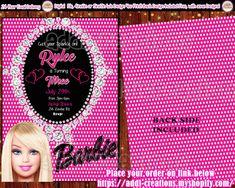 34 Mejores Imágenes De Invitaciones Barbie Barbie