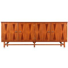 Awesome Mid Century Walnut Credenza With Rosewood Inlay For Stanley Furniture