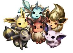 The Eeveelutions are my favourite