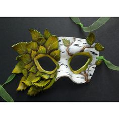 Silver Birch  Leather Mask by windfalcon on Etsy