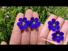 Seed Bead Patterns, Beaded Jewelry Patterns, Beading Patterns, Seed Bead Jewelry, Bead Jewellery, Bead Loom Designs, Bead Loom Bracelets, Beaded Crafts, Earring Tutorial