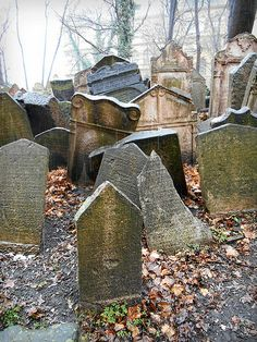 Old Jewish Cemetery, Prague - this was a very solemn site, they had no room to bury their people.  So they buried them on top of each other in a tiny lot next to the church