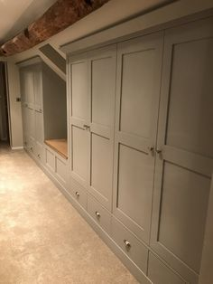 Bedroom Furniture- Fitted bespoke Wardrobes and drawers - Modern Attic Bedroom Storage, Attic Master Bedroom, Attic Bedroom Designs, Upstairs Bedroom, Attic Rooms, Closet Bedroom, Home Bedroom, Eaves Bedroom, Upstairs Hallway