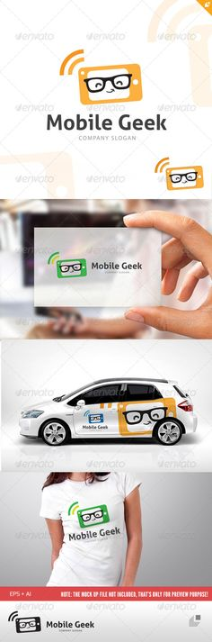Mobile Geek  - Logo Design Template Vector #logotype Download it here: http://graphicriver.net/item/mobile-geek-logo/4805639?s_rank=655?ref=nesto
