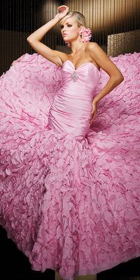 Pretty in Pink Ball Gown Pink Love, Pretty In Pink, Hot Pink, Perfect Pink, Pink Dress, Dress Up, Ruffle Dress, Pink Gowns, Dress Prom