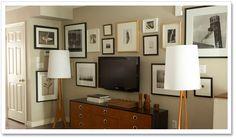 Gallery wall around TV