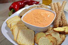 Εύκολο ντιπ με πιπεριές Φλωρίνης και τυρί κρέμα