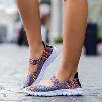 Wish | 2017 Spring Women casual running shoes lady's sneaker mesh fabric flats shoes ( Plus Size US?5 -11, Grey,Purple,Red,Orange,Black,Khaki )