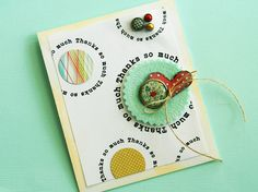 Love the circles! From Homespun with Heart blog by Danielle Flanders