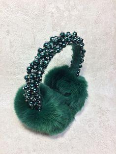 South Korea Landmarks Buk Winter Earmuffs Ear Warmers Faux Fur Foldable Plush Outdoor Gift