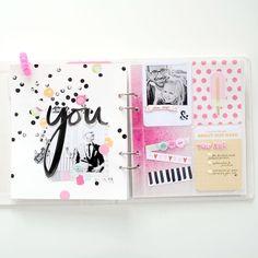 Mini Scrapbook Albums, Travel Scrapbook, Scrapbook Paper Crafts, Diy Scrapbook, Scrapbook Pages, Project Life Planner, Project Life 6x8, Project Life Cards, Mixed Media Scrapbooking