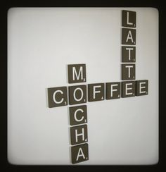 For coffee lovers... this would look so cute in the kitchen or breakfast nook. Or in a coffee shop :)