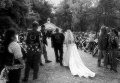 Biker Wedding by TimLaSure.deviantart.com