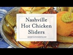 Nashville Hot Chicken Sliders are perfect as a dinner or appetizer. Crispy fried chicken dredged in spicy sauce served on buttermilk biscuits with pickles. Homemade Bbq Sauce Recipe, Hot Sauce Recipes, Best Appetizer Recipes, Fajita Recipe, Yummy Appetizers, Chicken Recipes, Recipe Chicken, Nashville Hot Sauce Recipe, Nashville Fried Chicken