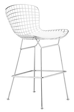 Counter-height stool. Strong and airy open metalwork rooted in the 1952 collection of the sculptor's modern furniture.