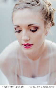 Bridal make up inspiration by Lisa Brown | Styled Shoots | Photograph by Migneon Marais of Pritti