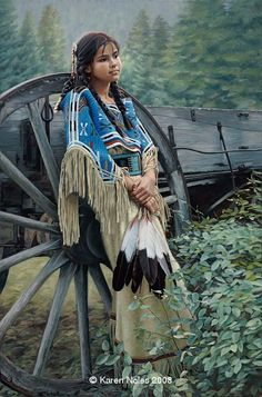 """""""Tranquill Dreamer"""" -Native American Paintings by Karen Noles"""