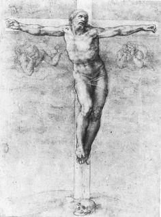 Christ on the Cross by Michelangelo, Drawing    #TuscanyAgriturismoGiratola