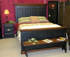 primitive  Furniture | Amish Made Primitive Style Country Bed Room Furniture