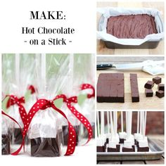 Make Hot Chocolate on a Stick For kid friends/neighbors along with cookies