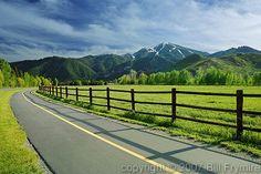 bike walk trail Sun Valley Idaho USA