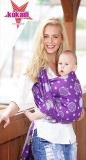 kokadi baby wrap purple paradise fruits - 100%cotton