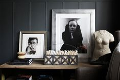 Wall Color: Farrow & Ball's Down Pipe. Home of Crystal Gentilello from Rue magazine