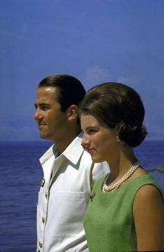 indypendentroyalty:  King Constantine of Greece with his wife Queen Anne Marie. Greece1966.  Photo by David Lees.