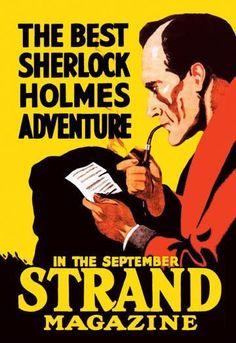 The Best Sherlock Holmes Adventure 12x18 Giclee on canvas