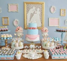 This is a good idea for blue theme party as well. Cinderella Theme, Cinderella Birthday, Disney Princess Birthday, Bridal Shower, Baby Shower, Festa Party, Party Decoration, 4th Birthday Parties, First Birthdays