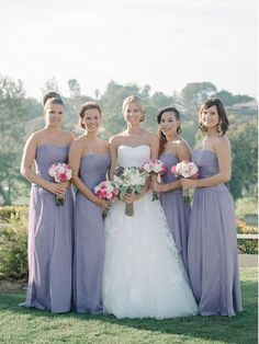 9af708e70ad A Line Chiffon Strapless Bridesmaid Dresses Maxi Mother of the Bride Dresses  PB10107-SheerGirl Affordable